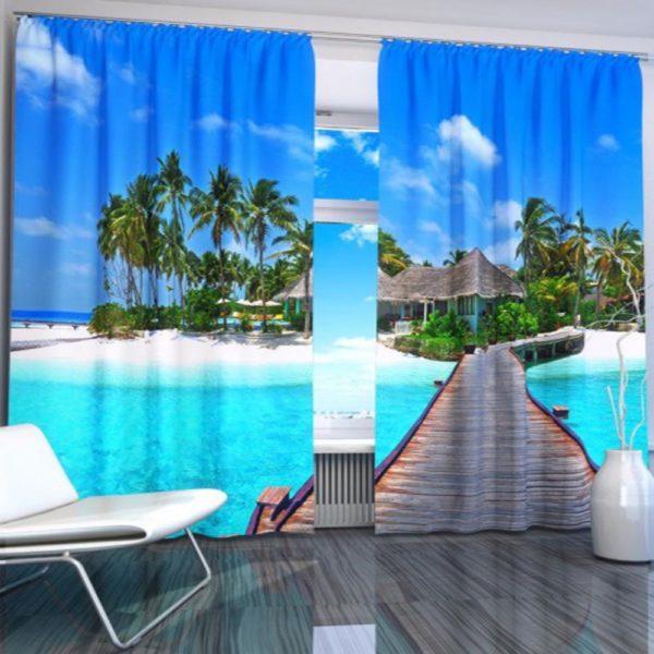 99amazon zpsll625ep7 600x600 - Vibrant Ocean Themed Curtain Set