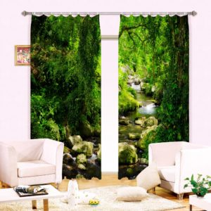 Premium Curtain set With Nature Picture