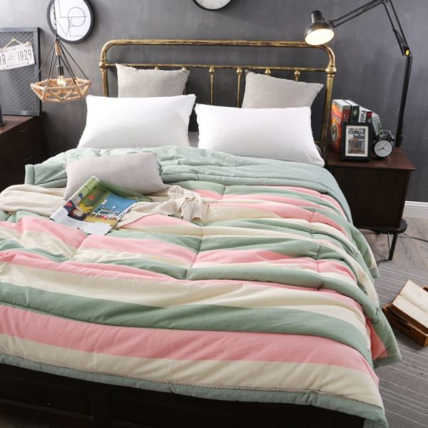 Beautiful Pink and Aqua Washed Cotton Comforter 2 600x600 - Beautiful Pink and Aqua Washed Cotton Comforter