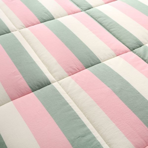 Beautiful Pink and Aqua Washed Cotton Comforter 5 600x600 - Beautiful Pink and Aqua Washed Cotton Comforter