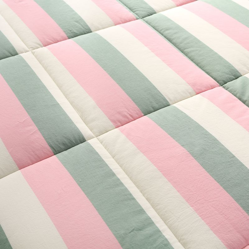 Beautiful Pink And Aqua Washed Cotton Comforter Ebeddingsets