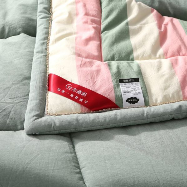 Beautiful Pink and Aqua Washed Cotton Comforter 7 600x600 - Beautiful Pink and Aqua Washed Cotton Comforter