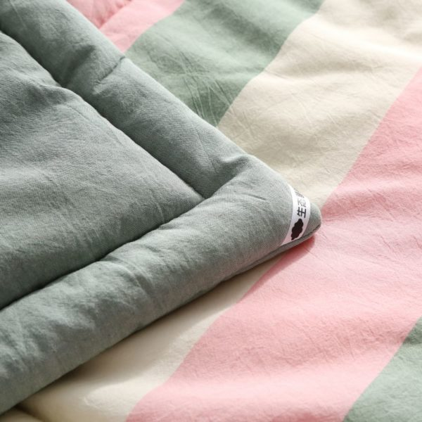 Beautiful Pink and Aqua Washed Cotton Comforter 8 600x600 - Beautiful Pink and Aqua Washed Cotton Comforter