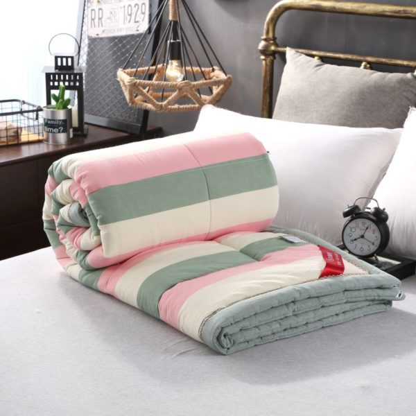 Beautiful Pink and Aqua Washed Cotton Comforter 9 600x600 - Beautiful Pink and Aqua Washed Cotton Comforter