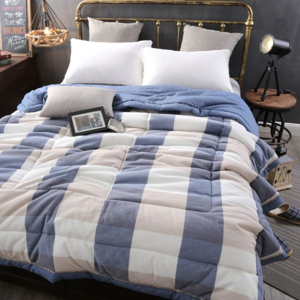 Charming Light Blue Stripe Washed Cotton Comforter 2 600x600 - Charming Light Blue Stripe Washed Cotton Comforter