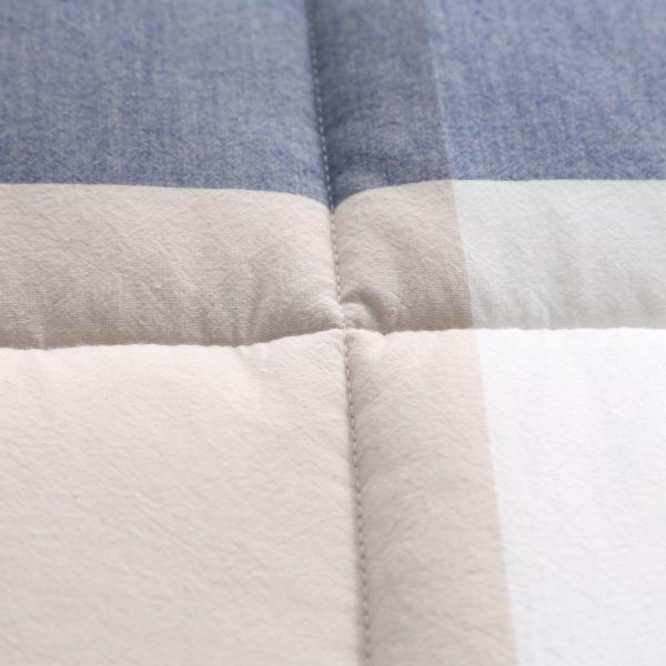 Charming Light Blue Stripe Washed Cotton Comforter 6 600x600 - Charming Light Blue Stripe Washed Cotton Comforter
