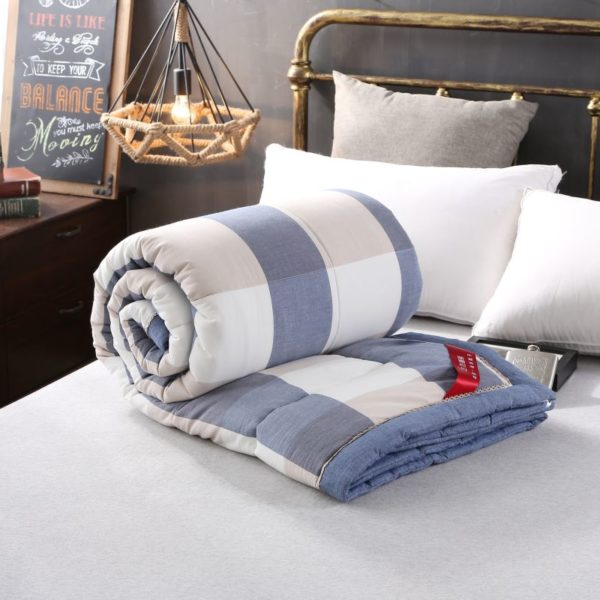 Charming Light Blue Stripe Washed Cotton Comforter 9 600x600 - Charming Light Blue Stripe Washed Cotton Comforter