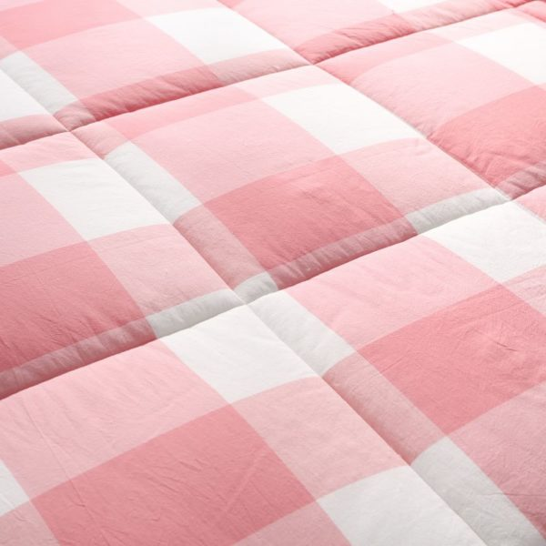 Light Pink Striped Washed Cotton Comforter 5 600x600 - Light Pink Striped Washed Cotton Comforter
