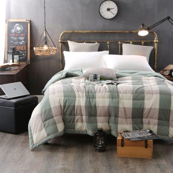 Pretty Striped Aqua Washed Cotton Comforter 4 600x600 - Pretty Striped Aqua Washed Cotton Comforter