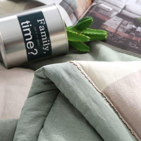 Pretty Striped Aqua Washed Cotton Comforter 7 600x600 - Pretty Striped Aqua Washed Cotton Comforter
