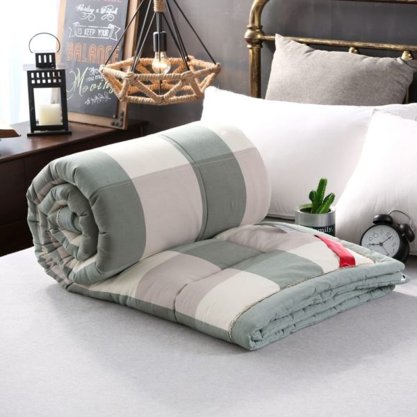 Pretty Striped Aqua Washed Cotton Comforter 9 600x600 - Pretty Striped Aqua Washed Cotton Comforter