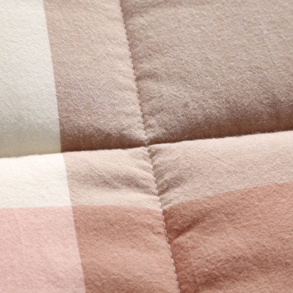 Soothing Salmon Pink Striped Washed Cotton Comforter 6 600x600 - Soothing Salmon Pink Striped Washed Cotton Comforter