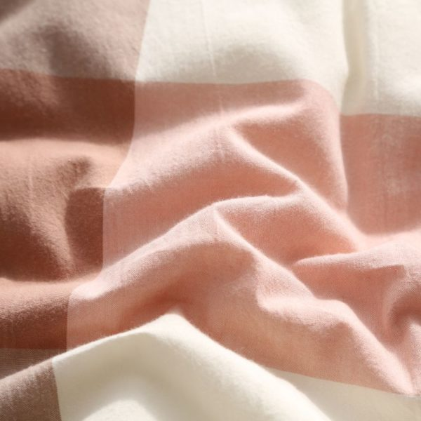 Soothing Salmon Pink Striped Washed Cotton Comforter 8 600x600 - Soothing Salmon Pink Striped Washed Cotton Comforter