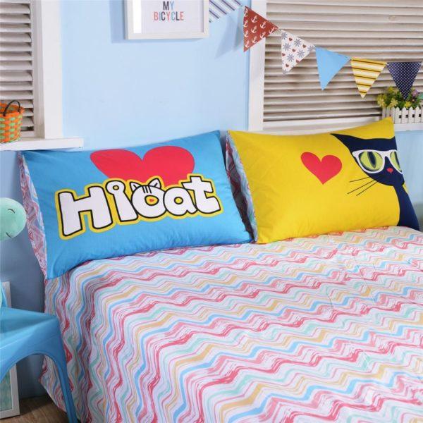 100 Cotton Bedding Set Model CD HC AQMM 12 600x600 - 100% Cotton Bedding Set - Model C&D-HC-AQMM