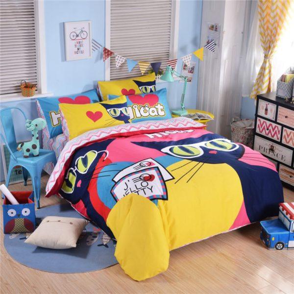 100 Cotton Bedding Set Model CD HC AQMM 13 600x600 - 100% Cotton Bedding Set - Model C&D-HC-AQMM