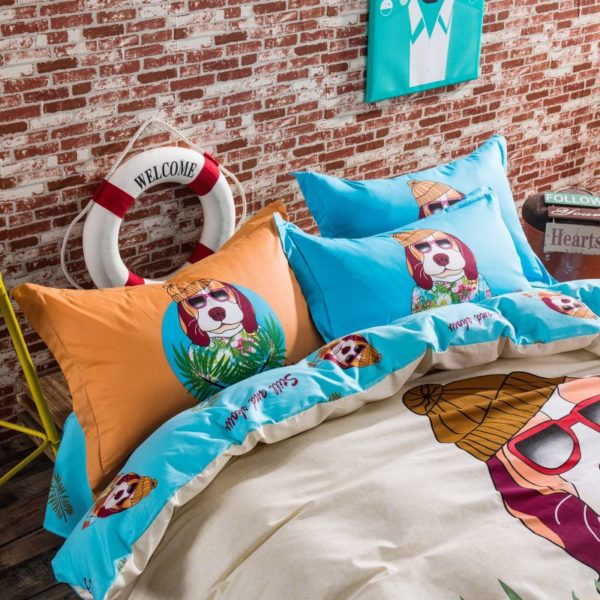 100 Cotton Bedding Set Model CD HC FL Q 10 600x600 - 100% Cotton Bedding Set - Model C&D-HC-FL