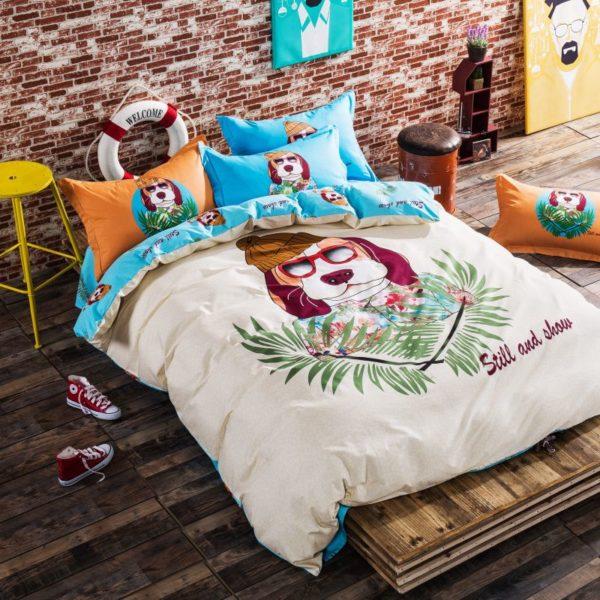100 Cotton Bedding Set Model CD HC FL Q 7 600x600 - 100% Cotton Bedding Set - Model C&D-HC-FL