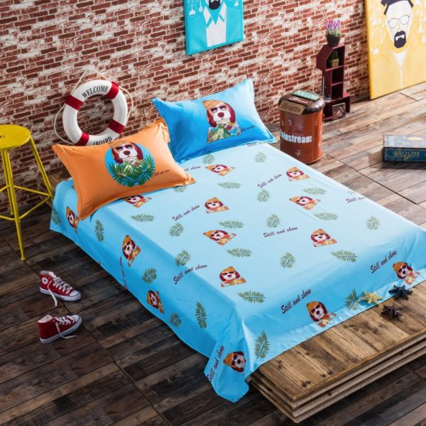 100 Cotton Bedding Set Model CD HC FL Q 8 600x600 - 100% Cotton Bedding Set - Model C&D-HC-FL