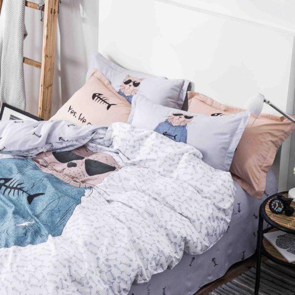 100 Cotton Bedding Set Model CD HC SA 4 600x600 - 100% Cotton Bedding Set - Model C&D-HC-SA