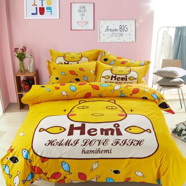 100 Cotton Bedding Set Model CD HC TS 1 600x600 - 100% Cotton Bedding Set - Model C&D-HC-TS