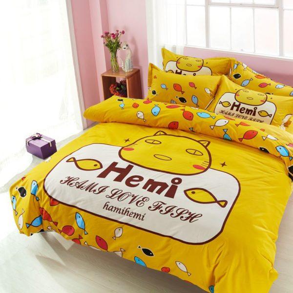 100 Cotton Bedding Set Model CD HC TS 11 600x600 - 100% Cotton Bedding Set - Model C&D-HC-TS
