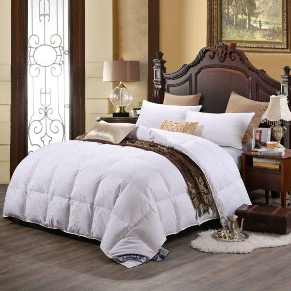 100 Cotton Satin Jacquard Duck Down Comforter Model 1 1 600x600 - 100% Cotton Satin Jacquard Duck Down Comforter - Model 1