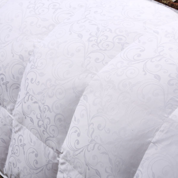 100 Cotton Satin Jacquard Duck Down Comforter Model 1 11 600x600 - High Quality Polyester White Duck Down Comforter - Model 1