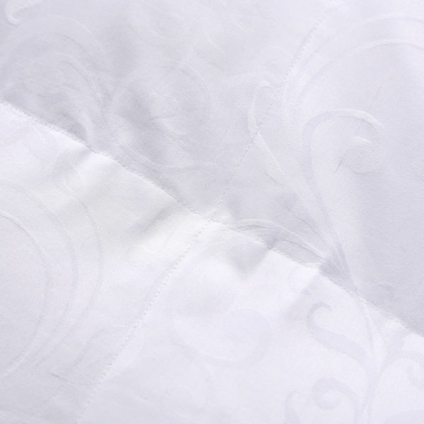 100 Cotton Satin Jacquard Duck Down Comforter Model 1 12 600x600 - High Quality Polyester White Duck Down Comforter - Model 1