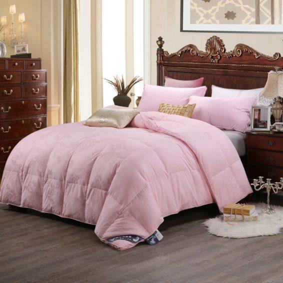 100 Cotton Satin Jacquard Duck Down Comforter Model 2