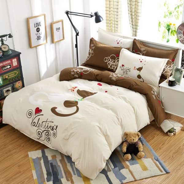 50 Cotton 50 Polyester Bedding Set Model CD MDY XZXS 1 600x600 - 50% Cotton 50% Polyester Bedding Set - Model C&D-MDY-XZXS