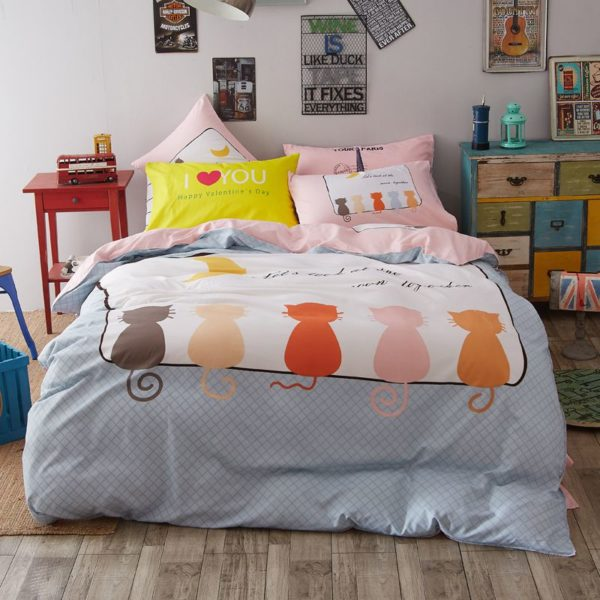 50 Cotton 50 Polyester Bedding Set Model CD MS WHMM 14 600x600 - 50% Cotton 50% Polyester Bedding Set - Model C&D-MS-WHMM