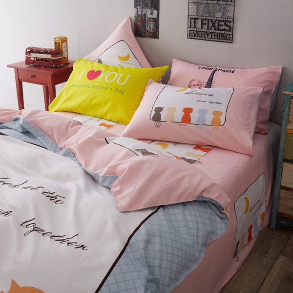 50 Cotton 50 Polyester Bedding Set Model CD MS WHMM 15 600x600 - 50% Cotton 50% Polyester Bedding Set - Model C&D-MS-WHMM