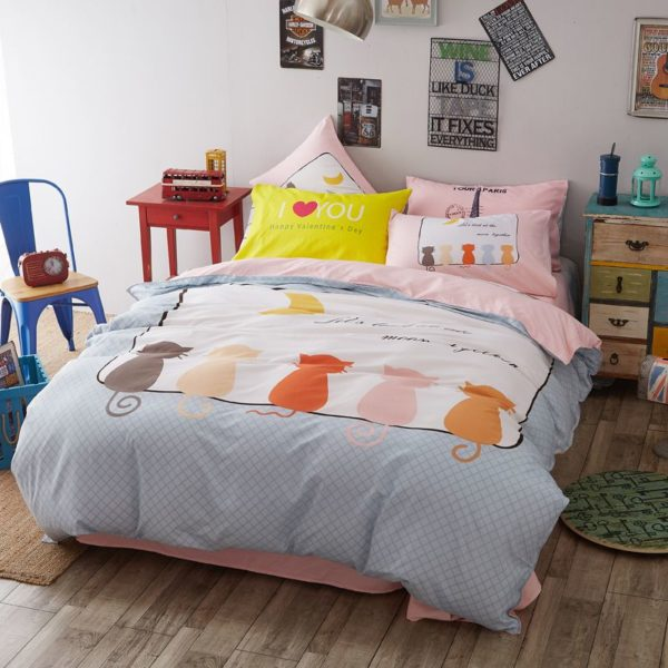 50 Cotton 50 Polyester Bedding Set Model CD MS WHMM 2 600x600 - 50% Cotton 50% Polyester Bedding Set - Model C&D-MS-WHMM