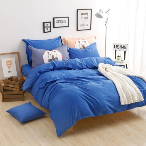 BYF BX HuLan Brief Solid Color Bedding Set 4 600x600 - BYF-BX-HuLan Brief Solid Color Bedding Set