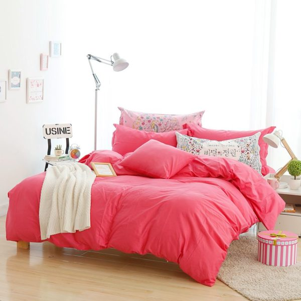 BYF HS ZhuHong Brief Solid Color Bedding Set 5 600x600 - BYF-HS-ZhuHong Brief Solid Color Bedding Set