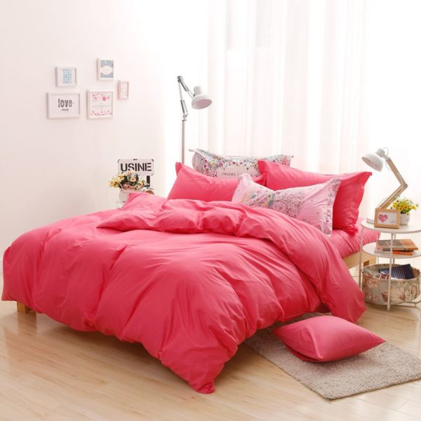 BYF HS ZhuHong Brief Solid Color Bedding Set 7 600x600 - BYF-HS-ZhuHong Brief Solid Color Bedding Set