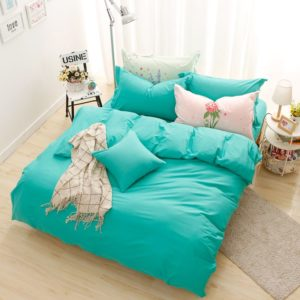 BYF-HY-CuiLv Brief Solid Color Bedding Set