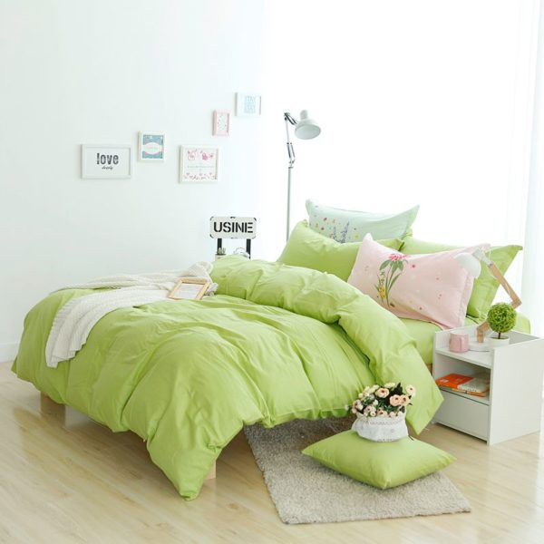 BYF HY GuoLv Brief Solid Color Bedding Set 3 600x600 - BYF-HY-GuoLv Brief Solid Color Bedding Set