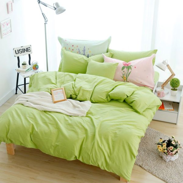 BYF HY GuoLv Brief Solid Color Bedding Set 6 600x600 - BYF-HY-GuoLv Brief Solid Color Bedding Set