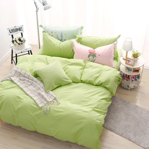 BYF HY GuoLv Brief Solid Color Bedding Set 9 600x600 - BYF-HY-GuoLv Brief Solid Color Bedding Set