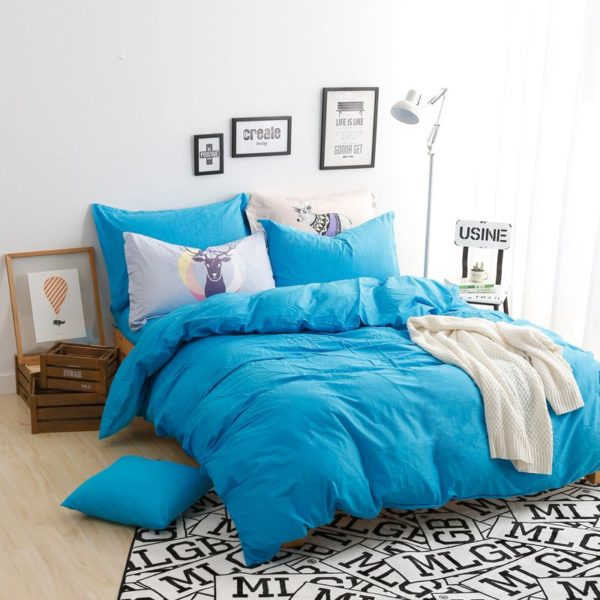 BYF ML GuLan Brief Solid Color Bedding Set 2 600x600 - BYF-ML-GuLan Brief Solid Color Bedding Set