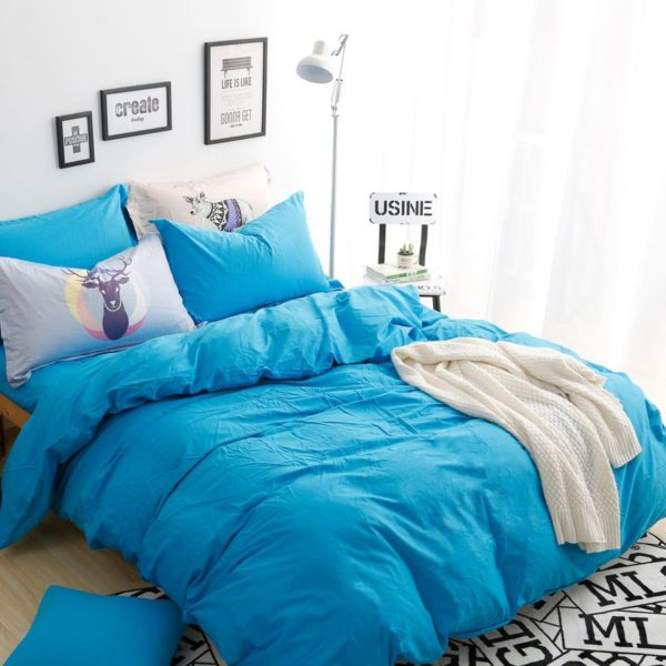 BYF ML GuLan Brief Solid Color Bedding Set 3 600x600 - BYF-ML-GuLan Brief Solid Color Bedding Set