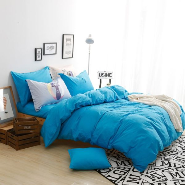 BYF ML GuLan Brief Solid Color Bedding Set 4 600x600 - BYF-ML-GuLan Brief Solid Color Bedding Set