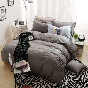 BYF-ML-ShenHui Brief Solid Color Bedding Set