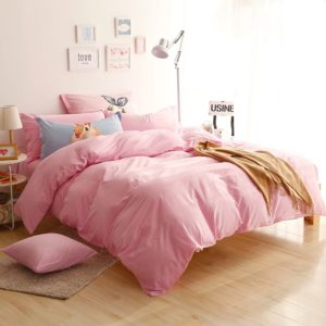 BYF-MT-LiangFen Brief Solid Color Bedding Set