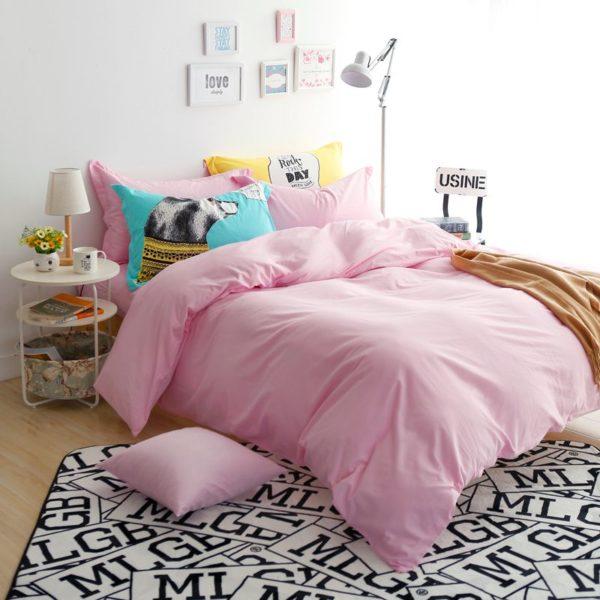 BYF-NN-FenYu Brief Solid Color Bedding Set