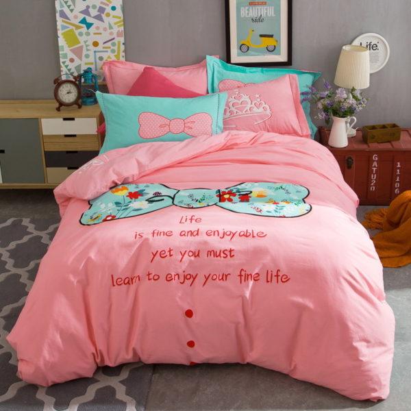 BYF SNQJ 100 Cotton Sanding Fresh Brief Bedding Set 6 600x600 - BYF-SNQJ 100% Cotton Sanding Fresh Brief Bedding Set