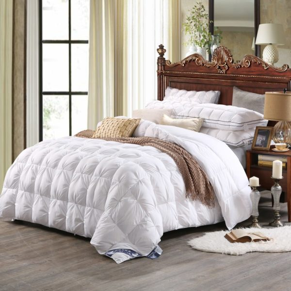 High Quality Polyester White Duck Down Comforter Model 1 1 600x600 - High Quality Polyester White Duck Down Comforter - Model 1