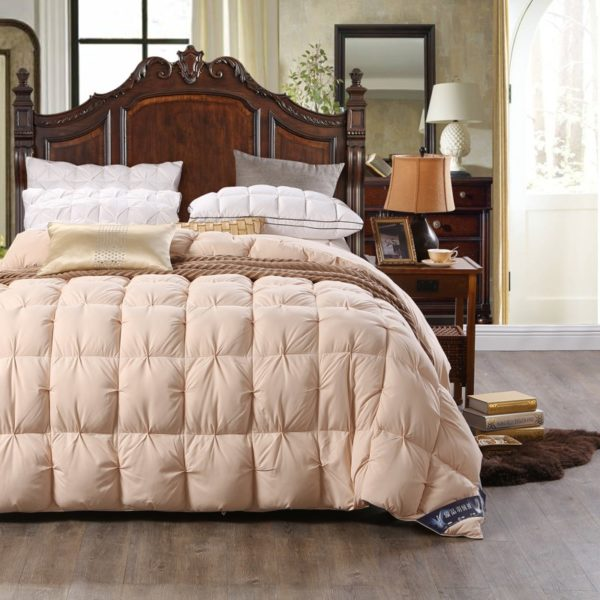 High Quality Polyester White Duck Down Comforter Model 3 9 600x600 - High Quality Polyester White Duck Down Comforter - Model 3