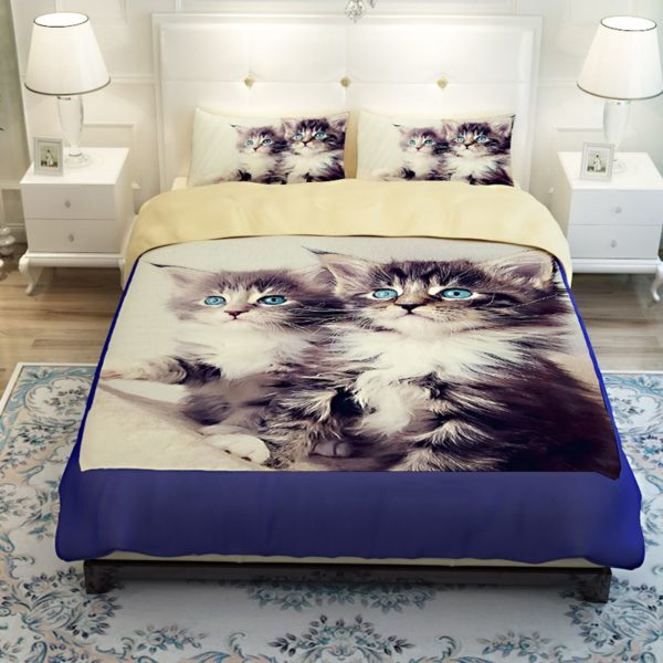 2 Blue Eyed Cats Printed Bedding Set 4 600x600 - 2 Blue Eyed Cats Printed Bedding Set